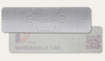 WINDSHIELD tag RFID parabrezza