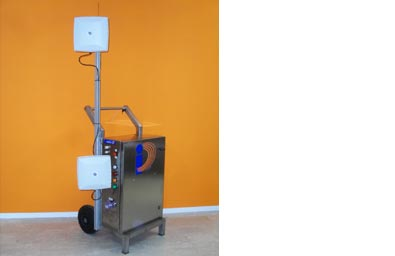 Armored Trolley carrello lettore RFID UHF